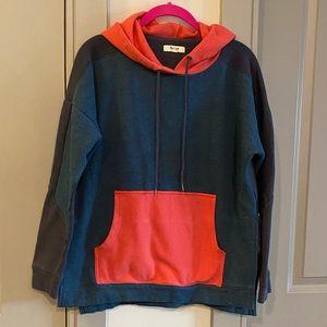 Madewell Color Block Sweatshirt Hoodie